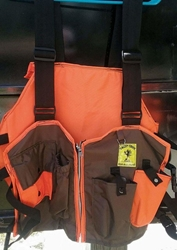 Valley Creek Small Game Vest Orange/Brown